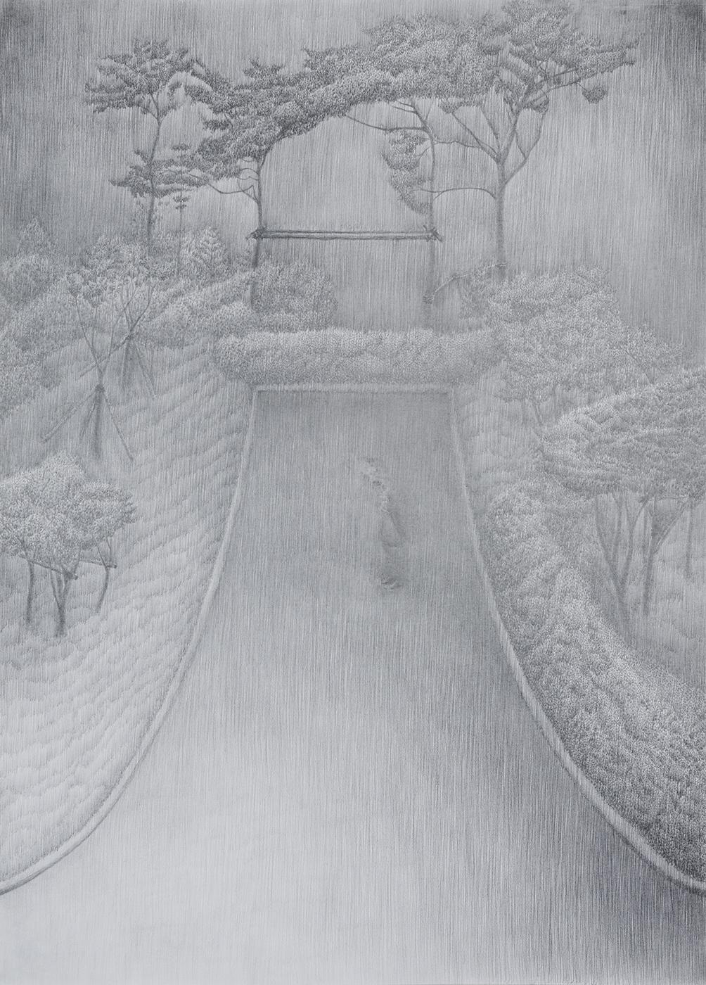 신도시-2 종이연필 79x109.2cm 2014